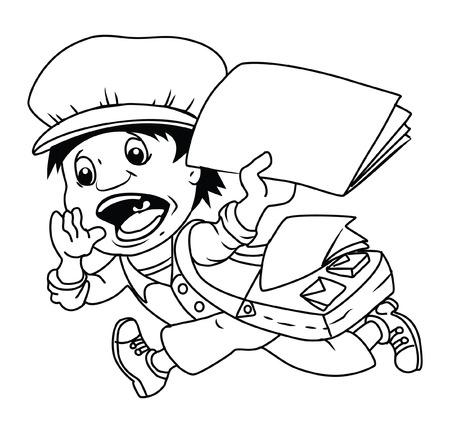 Paper Boy Vector