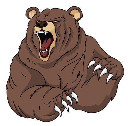 angry bear: Bear