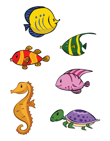 Baby Sea Animal Collection Vector
