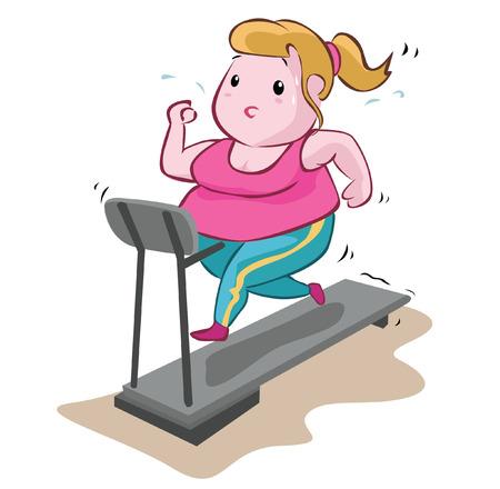 Vette Vrouw Fitness