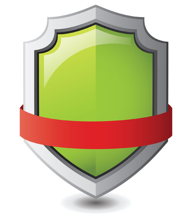 Vector illustration Green safe shield : Green concept Vector
