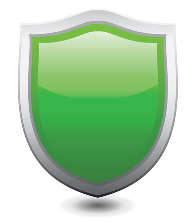 Vector illustration Green shield Vector