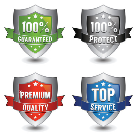 Business Shield Collection Vector