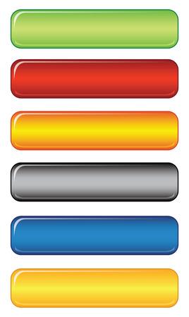 Glossy web button