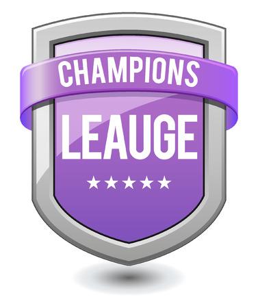 league: Purple shield Champions league Illustration