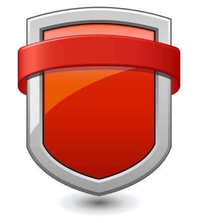 shiled: Red Shield Illustration