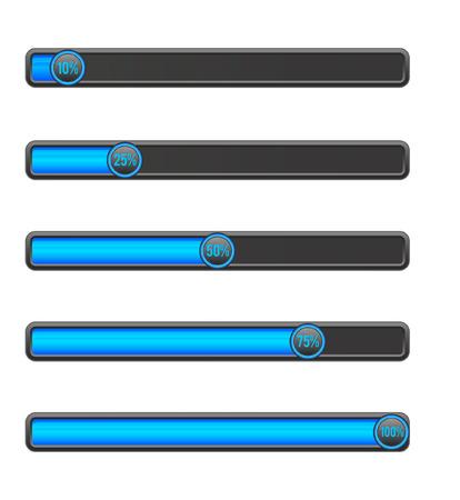 pre loader: Blue loading bar