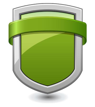 Green Shield Vector