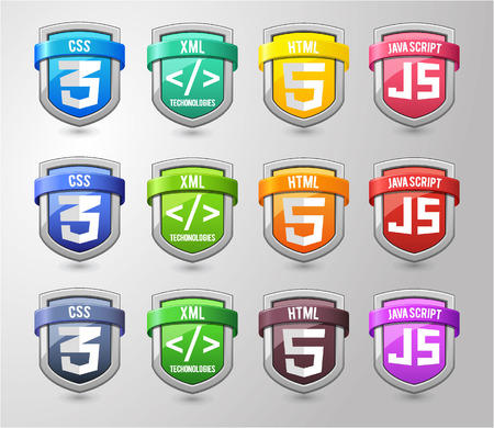 html5: Full colours Shield Collection Illustration