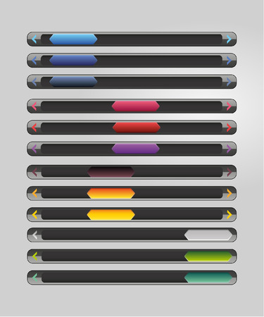 scroll: Glossy scroll bars Illustration