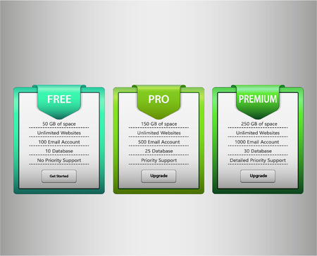 green web list Vector