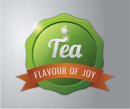 flavour: Tea badge : Tea flavour of joy