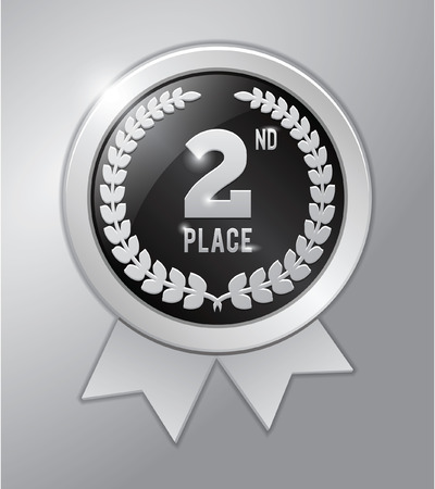 2nd: 2nd place silver medal Illustration