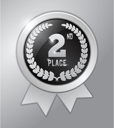 silver medal: 2nd place silver medal Illustration