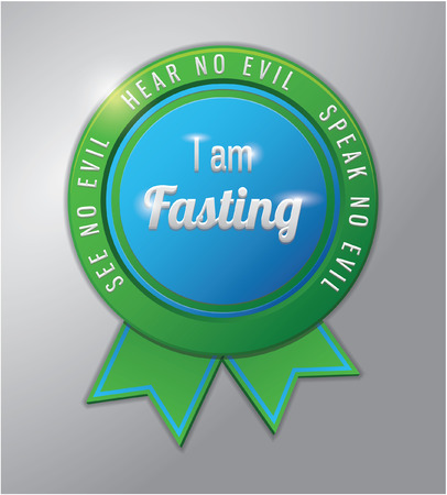 Ramadhan kareem badge : i am fasting today Illustration