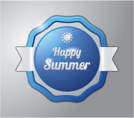 happy summer: Happy summer badge