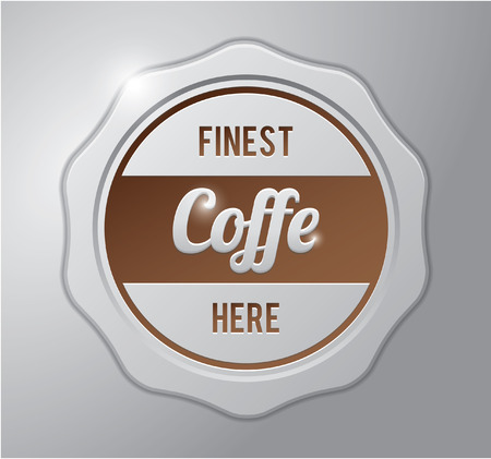 finest: Coffee badge ; Finest coffee here
