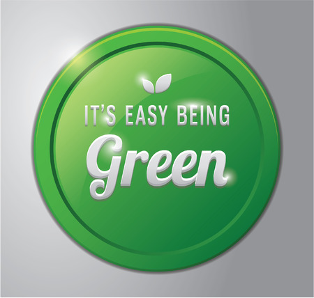 green it: Green badge : it is easy being green
