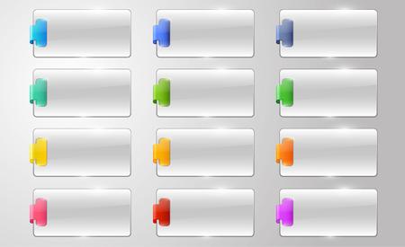colourfull: blank corner elements for business Illustration