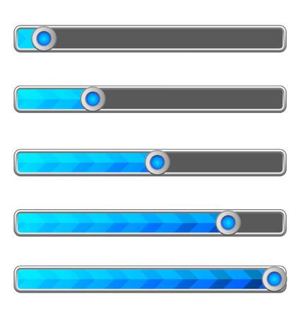blue arrow: Blue arrow loading bar