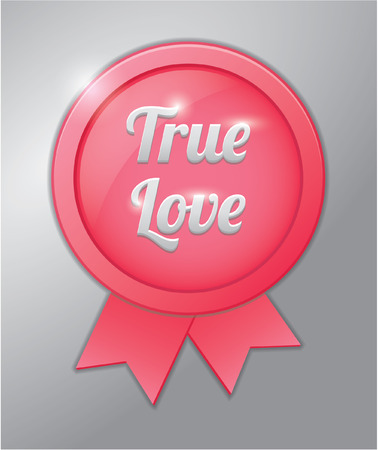 with true love: True love badge banner