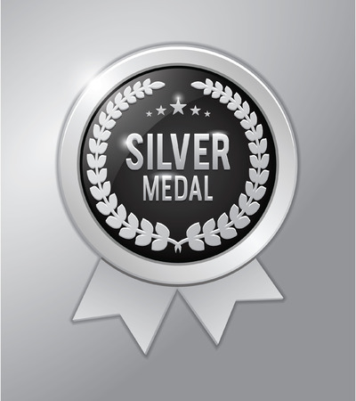 medal: Silver medal Illustration