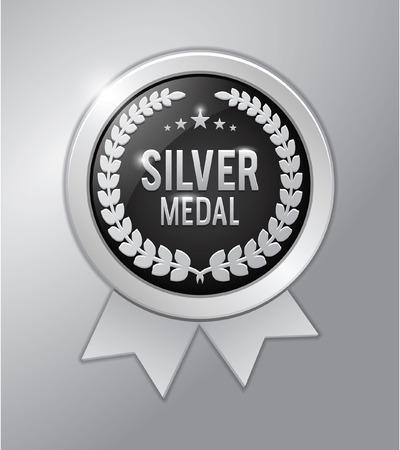 silver: Silver medal Illustration