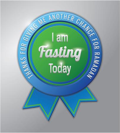 ramadhan: Ramadhan kareem badge : I am fasting
