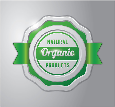 productos naturales: Insignia verde: productos naturales orgánicos