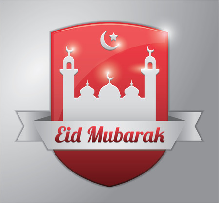 al: eid al fitr red badge Illustration