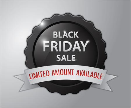 amount: Black friday sale badge : Limited amount available Illustration