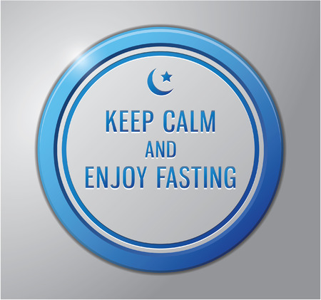 ramadhan: Ramadhan kareem badge : Keep calm and enjoy fasting