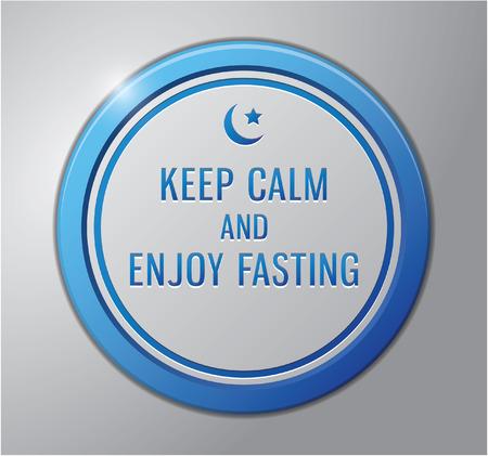 Ramadhan kareem badge : Keep calm and enjoy fasting