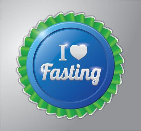 ramadhan: Ramadhan kareem badge : I love fasting