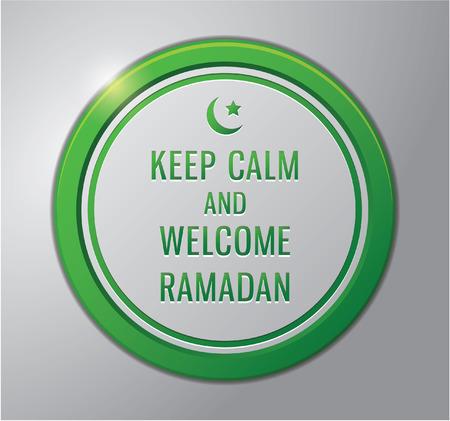 ramadhan: Ramadhan kareem badge : keep calm and welcome ramadhan Illustration