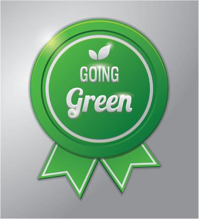 going green: Green badge : going green