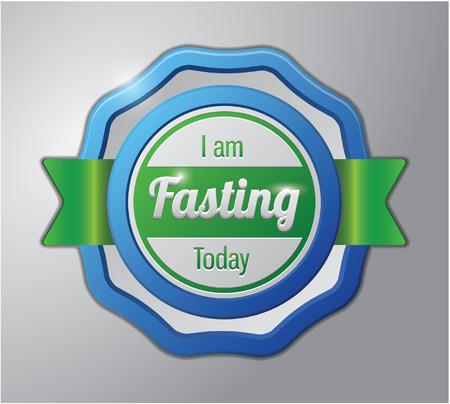 Ramadhan kareem badge : i am fasting today Illustration