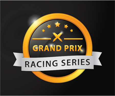 prix: Grand prix racing golden badge Illustration