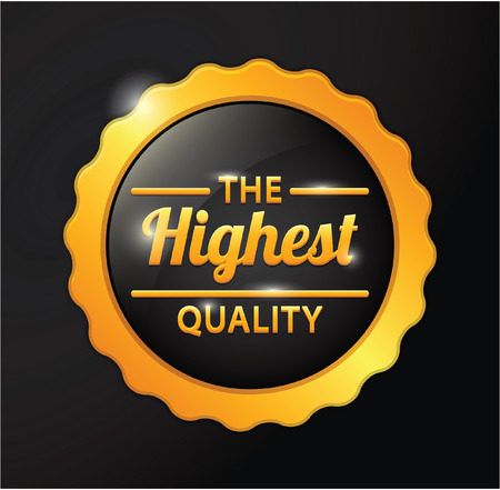 highest: Highest quality golden badge