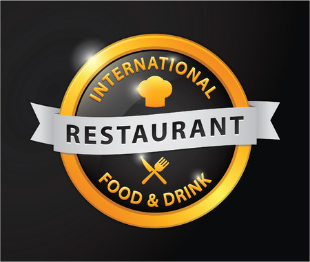 international food: Restaurant international food and drink golden badge