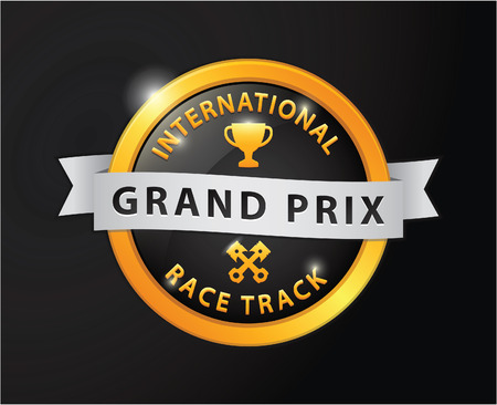 prix: Grand prix international race track golden badge