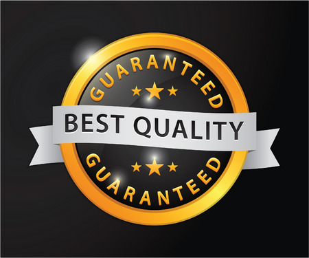 best quality: Best quality guaranteed golden badge