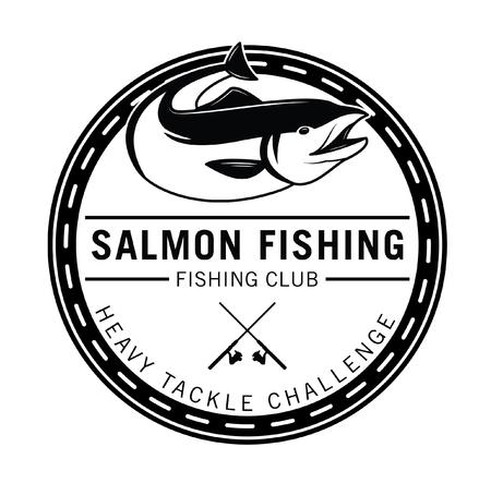salmon fish: Salmon fishing : Fishing fish badge Salmon fish