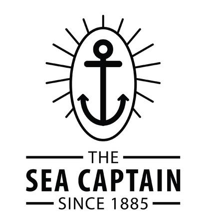 voyager: The captain : Voyager badge label Illustration