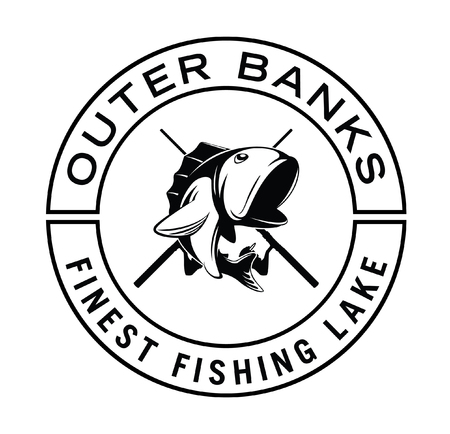 rainbow trout: outer banks fishing badge