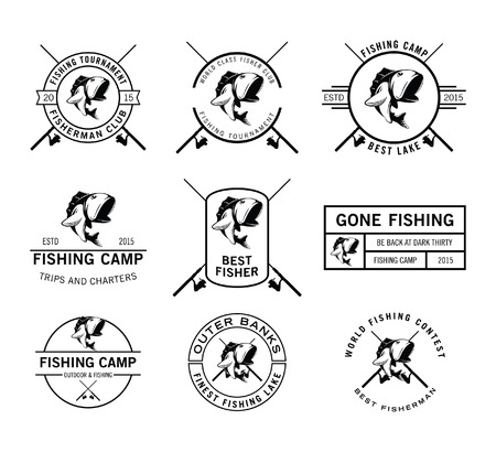 salmon leaping: Fishing badge