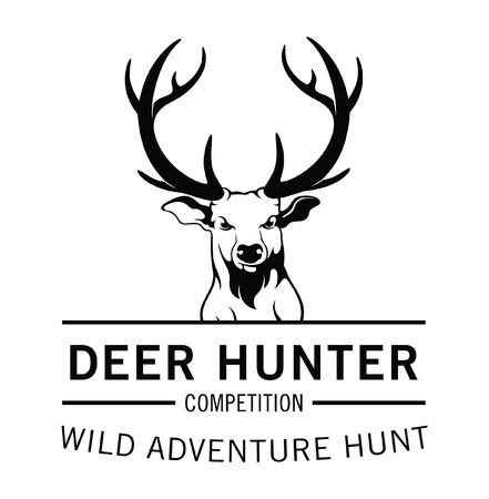 deer hunter: Deer hunter label badge