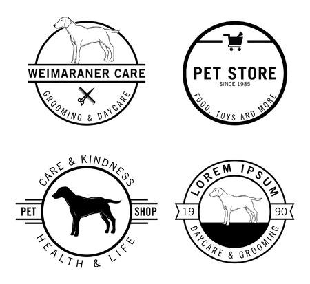 retro badge: Dog badge