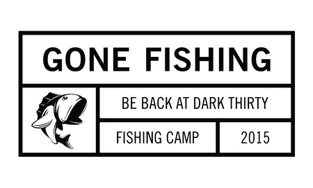 rainbow trout: Gone fishing badge