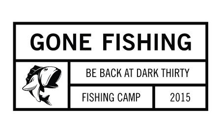 largemouth: Gone fishing badge